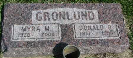 GRONLUND, DONALD O. - Cedar County, Nebraska | DONALD O. GRONLUND - Nebraska Gravestone Photos