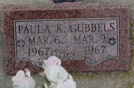 GUBBELS, PAULA K. - Cedar County, Nebraska   PAULA K. GUBBELS - Nebraska Gravestone Photos
