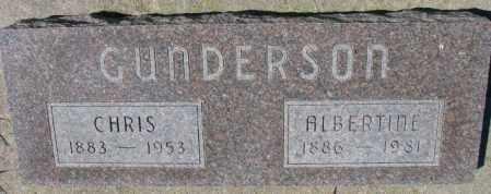 GUNDERSON, ALBERTINE - Cedar County, Nebraska | ALBERTINE GUNDERSON - Nebraska Gravestone Photos