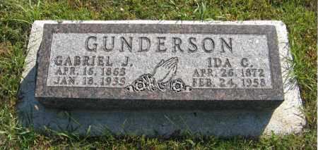 GUNDERSON, IDA C. - Cedar County, Nebraska | IDA C. GUNDERSON - Nebraska Gravestone Photos