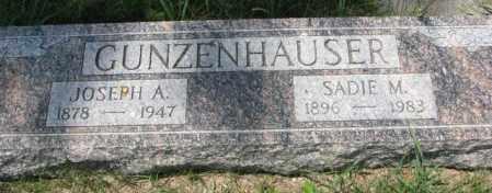 GUNZENHAUSER, SADIE M. - Cedar County, Nebraska   SADIE M. GUNZENHAUSER - Nebraska Gravestone Photos