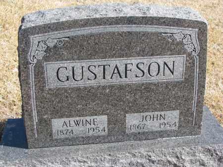 GUSTAFSON, ALWINE - Cedar County, Nebraska   ALWINE GUSTAFSON - Nebraska Gravestone Photos