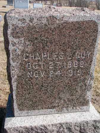 GUY, CHARLES L. - Cedar County, Nebraska | CHARLES L. GUY - Nebraska Gravestone Photos