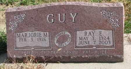 GUY, RAY E. - Cedar County, Nebraska   RAY E. GUY - Nebraska Gravestone Photos