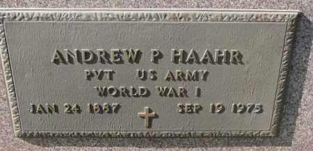 HAAHR, ANDREW P. (WW I) - Cedar County, Nebraska | ANDREW P. (WW I) HAAHR - Nebraska Gravestone Photos