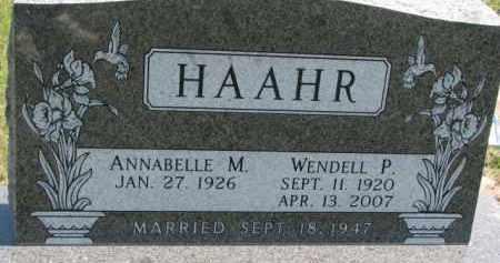 HAAHR, WENDELL P. - Cedar County, Nebraska | WENDELL P. HAAHR - Nebraska Gravestone Photos