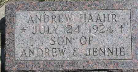 HAAHR, ANDREW - Cedar County, Nebraska   ANDREW HAAHR - Nebraska Gravestone Photos