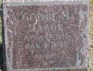 HAAHR, GEORGE M. - Cedar County, Nebraska | GEORGE M. HAAHR - Nebraska Gravestone Photos