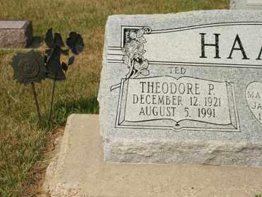 "HAAHR, THEODORE P  ""TED"" - Cedar County, Nebraska | THEODORE P  ""TED"" HAAHR - Nebraska Gravestone Photos"