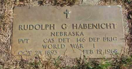 HABENICHT, RUDOLPH G. - Cedar County, Nebraska   RUDOLPH G. HABENICHT - Nebraska Gravestone Photos