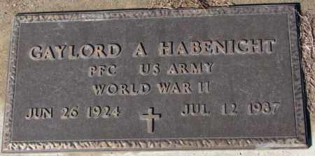 HABENIGHT, GAYLORD A. (WW II) - Cedar County, Nebraska | GAYLORD A. (WW II) HABENIGHT - Nebraska Gravestone Photos