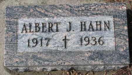 HAHN, ALBERT J. - Cedar County, Nebraska | ALBERT J. HAHN - Nebraska Gravestone Photos