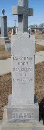 HAHN, MARY - Cedar County, Nebraska | MARY HAHN - Nebraska Gravestone Photos