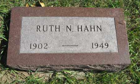 HAHN, RUTH N. - Cedar County, Nebraska | RUTH N. HAHN - Nebraska Gravestone Photos