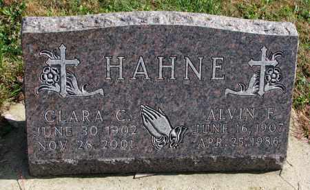 HAHNE, ALVIN F. - Cedar County, Nebraska | ALVIN F. HAHNE - Nebraska Gravestone Photos