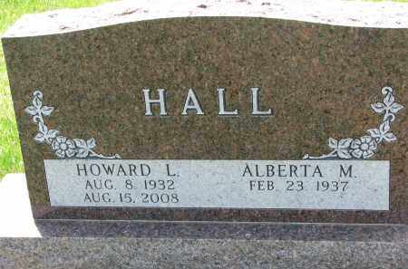 HALL, ALBERTA M. - Cedar County, Nebraska | ALBERTA M. HALL - Nebraska Gravestone Photos