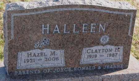 HALLEEN, HAZEL M. - Cedar County, Nebraska | HAZEL M. HALLEEN - Nebraska Gravestone Photos