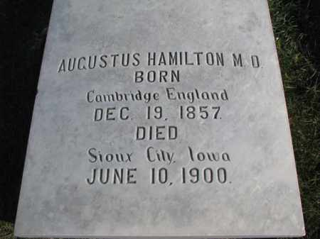 HAMILTON, AUGUSTUS  (M.D.) - Cedar County, Nebraska | AUGUSTUS  (M.D.) HAMILTON - Nebraska Gravestone Photos