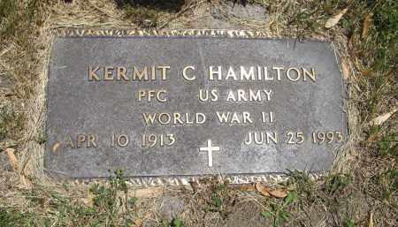 HAMILTON, KERMIT C. (MILITARY MARKER) - Cedar County, Nebraska   KERMIT C. (MILITARY MARKER) HAMILTON - Nebraska Gravestone Photos