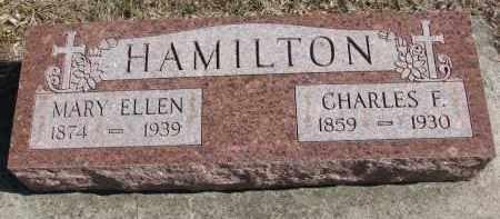 HAMILTON, CHARLES F. - Cedar County, Nebraska | CHARLES F. HAMILTON - Nebraska Gravestone Photos
