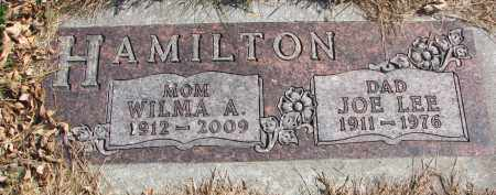 HAMILTON, WILMA A. - Cedar County, Nebraska | WILMA A. HAMILTON - Nebraska Gravestone Photos