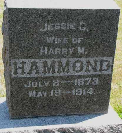 HAMMOND, JESSIE G. - Cedar County, Nebraska | JESSIE G. HAMMOND - Nebraska Gravestone Photos