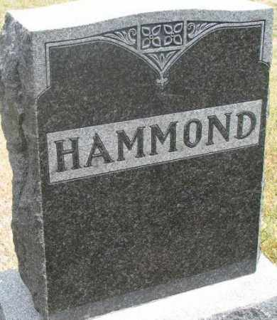 HAMMOND, PLOT - Cedar County, Nebraska | PLOT HAMMOND - Nebraska Gravestone Photos