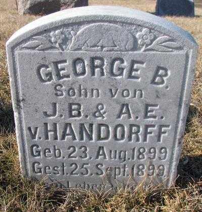HANDORFF, GEORGE B. - Cedar County, Nebraska | GEORGE B. HANDORFF - Nebraska Gravestone Photos