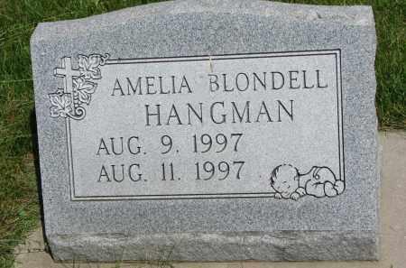 BLONDELL HANGMAN, AMELIA - Cedar County, Nebraska   AMELIA BLONDELL HANGMAN - Nebraska Gravestone Photos