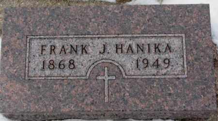 HANIKA, FRANK J. - Cedar County, Nebraska | FRANK J. HANIKA - Nebraska Gravestone Photos