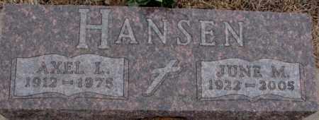 HANSEN, AXEL L. - Cedar County, Nebraska | AXEL L. HANSEN - Nebraska Gravestone Photos