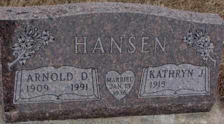 HANSEN, ARNOLD D. - Cedar County, Nebraska | ARNOLD D. HANSEN - Nebraska Gravestone Photos