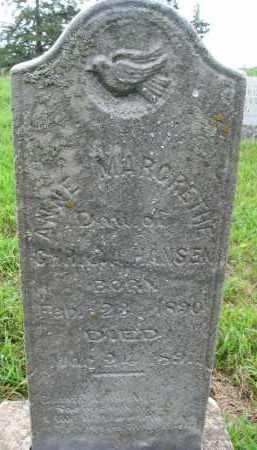 HANSEN, ANNE MARGRETHE - Cedar County, Nebraska | ANNE MARGRETHE HANSEN - Nebraska Gravestone Photos