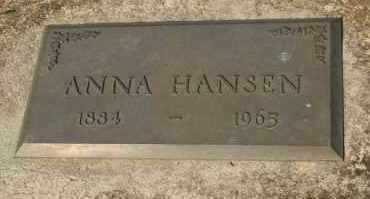 HANSEN, ANNA - Cedar County, Nebraska   ANNA HANSEN - Nebraska Gravestone Photos