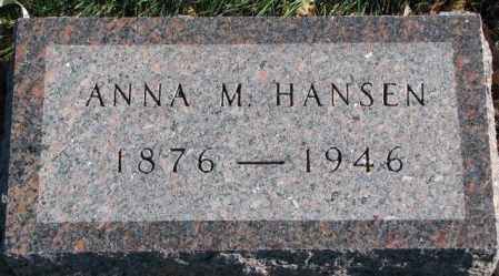 HANSEN, ANNA M. - Cedar County, Nebraska   ANNA M. HANSEN - Nebraska Gravestone Photos