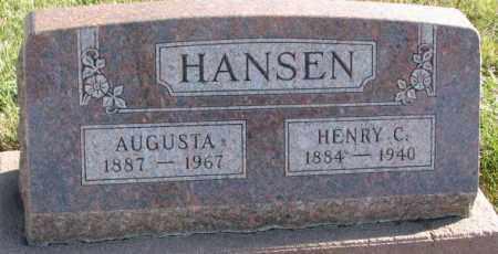 HANSEN, AUGUSTA - Cedar County, Nebraska | AUGUSTA HANSEN - Nebraska Gravestone Photos