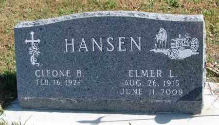 HANSEN, ELMER L. - Cedar County, Nebraska | ELMER L. HANSEN - Nebraska Gravestone Photos