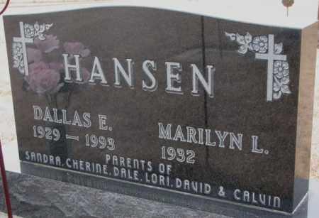 HANSEN, DALLAS E. - Cedar County, Nebraska | DALLAS E. HANSEN - Nebraska Gravestone Photos