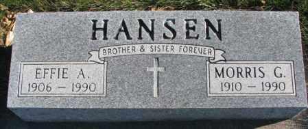 HANSEN, MORRIS G. - Cedar County, Nebraska | MORRIS G. HANSEN - Nebraska Gravestone Photos