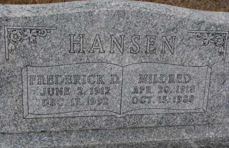 HANSEN, FREDERICK D. - Cedar County, Nebraska | FREDERICK D. HANSEN - Nebraska Gravestone Photos