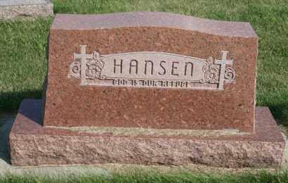 HANSEN, FAMILY - Cedar County, Nebraska | FAMILY HANSEN - Nebraska Gravestone Photos