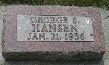 HANSEN, GEORGE S - Cedar County, Nebraska | GEORGE S HANSEN - Nebraska Gravestone Photos