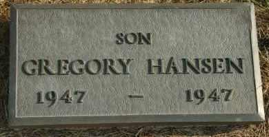 HANSEN, GREGORY - Cedar County, Nebraska | GREGORY HANSEN - Nebraska Gravestone Photos