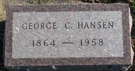 HANSEN, GEORGE C. - Cedar County, Nebraska | GEORGE C. HANSEN - Nebraska Gravestone Photos