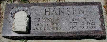 HANSEN, HARVEY H. - Cedar County, Nebraska | HARVEY H. HANSEN - Nebraska Gravestone Photos