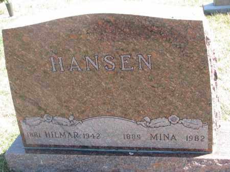 HANSEN, MINA - Cedar County, Nebraska | MINA HANSEN - Nebraska Gravestone Photos