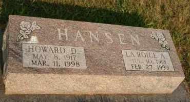 HANSEN, LAROICE A - Cedar County, Nebraska | LAROICE A HANSEN - Nebraska Gravestone Photos