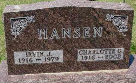 HANSEN, IRVIN J. - Cedar County, Nebraska | IRVIN J. HANSEN - Nebraska Gravestone Photos