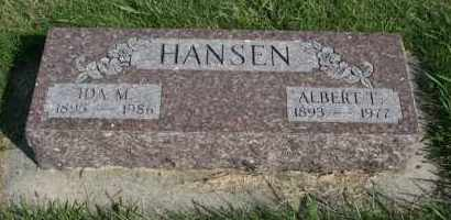 HANSEN, ALBERT T - Cedar County, Nebraska   ALBERT T HANSEN - Nebraska Gravestone Photos