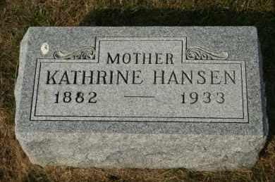 HANSEN, KATHRINE - Cedar County, Nebraska | KATHRINE HANSEN - Nebraska Gravestone Photos